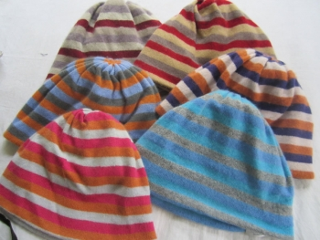Cashmere Stripe Hat
