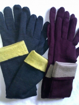 Two Color Cashmere Gloves