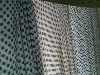 Spot Print Scarves