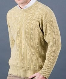 Cashmere Man's Cable Sweater