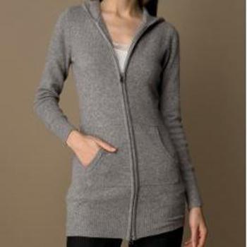 Pashmina Long Sweater Zipper