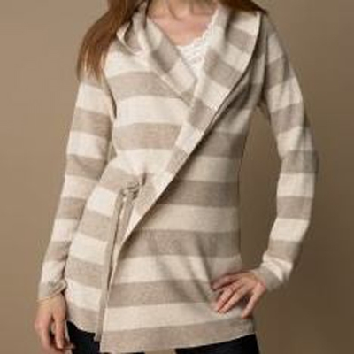Ladies Stripe Long Jumper