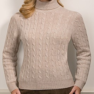 cashmere Cable High Neck